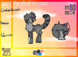 Cinderwhisker for thelifeoftheclans by PaintedGems