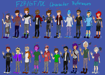 Completed Falling to Rise characters by CATtheDrawer