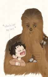 Ben and Chewbacca by CaptBexx