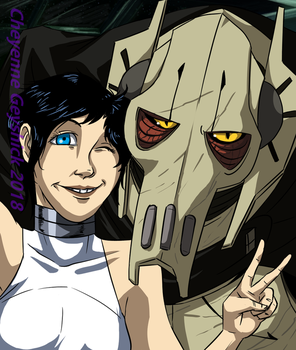 Selfie with the general by PurpleRAGE9205