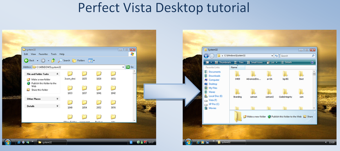 Perfect Vista Desk - tutorial by fediaFedia