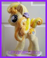 mlp plushie commission SUNNY HONEYMOON by CINNAMON-STITCH