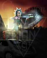 Rick and Morty - Rick in action by Championx91