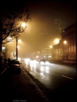 Nightly Fog in the city by andyshade
