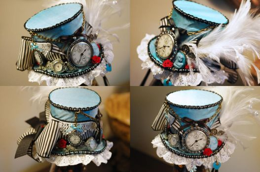 Steampunk Alice Mini Top Hat by NoFlutter