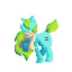 Destined to be unique -(First Pixel art!) by Temmious