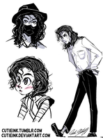 MJ sketch dump 4 by CutieInk