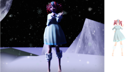 [MMD-WIP] - OG - Winter Teto WIP 2 (TetoBeTetoing) by MMDTeto13