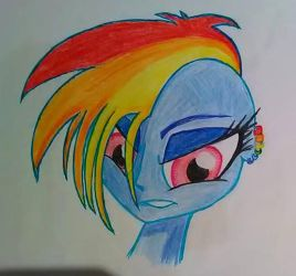 Rainbow Dash punk by matmax426