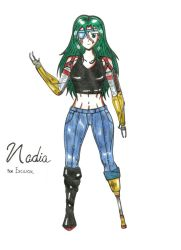 Nadia for excilion (Tribute) by vulcanknight