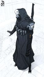 Hooded cyborg. by duster132
