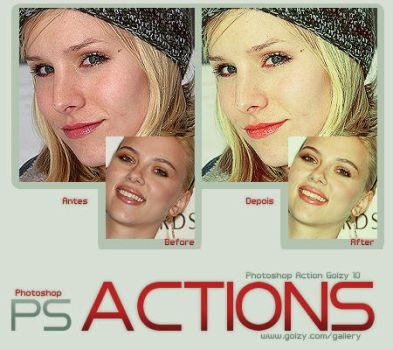 Photoshop actions Golzy 10 by golzy