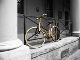 ..golden bicycle.. by TricksterNabi