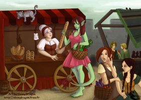 Market Day by ebonydragon