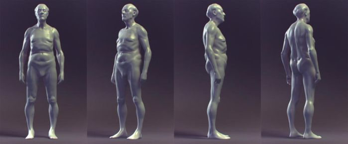 quick shape - old male by JackZhang