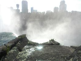 Niagara falls view of Canada by Android-shooter