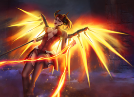 Devil Mercy - Overwatch fanart by eschata