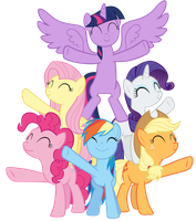 Mane Six finish singing Best Friends Until the End by Tardifice