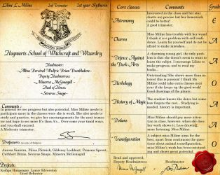 Hogwarts reportcard PSD by Lost-in-Hogwarts
