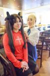 Rin Tohsaka and Saber - Fate Stay Night Cosplay by firecloak