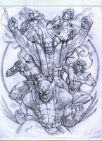 X-Men WIP by werder