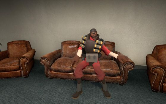 Demoman is relaxing by Super-fire-Mario