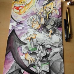 Medusa and Stein (Soul Eater) by ExShen