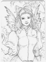 Victorian Fairy ACEO by ellenmillion
