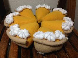 Whole pumpkin pie plushes  | For Sale by LeslysPlushes