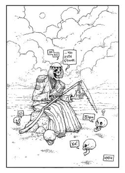 Death listens to the Beatles by TheWoodenKing