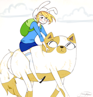 Fionna and Cake by joannawentbananas