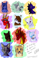 So many effing characters -rages- DX by Loki-Ryuu