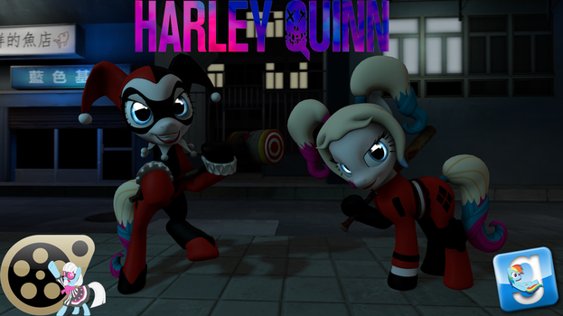 (DL) Harley Quinn Pony by Out-Buck-Pony
