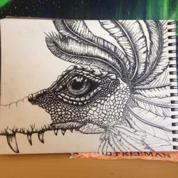 Dinosaur through the eyes a a five year old WIP by DarkWolfofAutumn