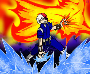Hot and Cold - Todoroki by Carbonated-James