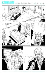 Deb Daring Comics - inked page 2 by Darry