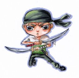 Commission:Chibi Zoro by Ace093