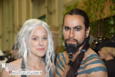Khaleesi and Drogo cosplay from Game of Thrones by Nerdgeist
