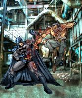 batman vs wolverine color by cajun884