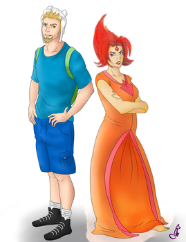 AndRei as FinnXFlamePrincess by InkieRose
