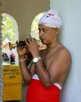 Temple Musician, Sri Lanka by Denish-C