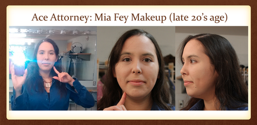 Mia Fey, Ace Attorney Makeup (late 20's age) by craftysorceress