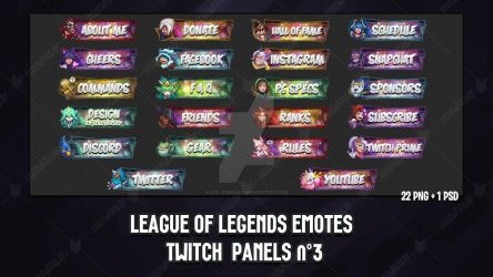 League Of Legends Emotes - Twitch Panels #3 by lol0verlay