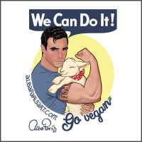 We Can ALL Do It! Go Vegan! by AlbaParis