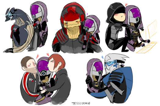 tali being kissed and hugged by everyone by Jesscookie
