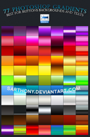 77 Photoshop Gradients by sarthony