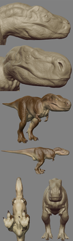 T-rex Model by Cheddarness8