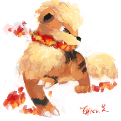 Growlithe by Effier-sxy