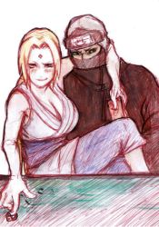Tsunade x Kakuzu gambling by Aim2