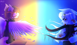 He is an angel and She is a demon       REMAKE by WhiteStar53